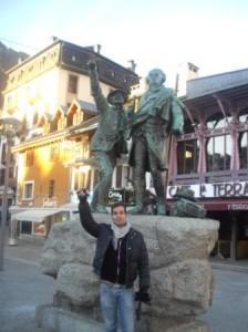 Estatua en Chamonix