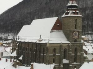 La iglesia negra. la mas grande de Rumania en Brasov