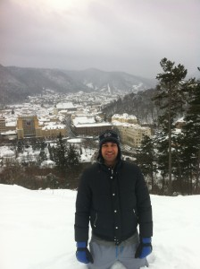 vistas desde la fortaleza de Rasnov en Rumania